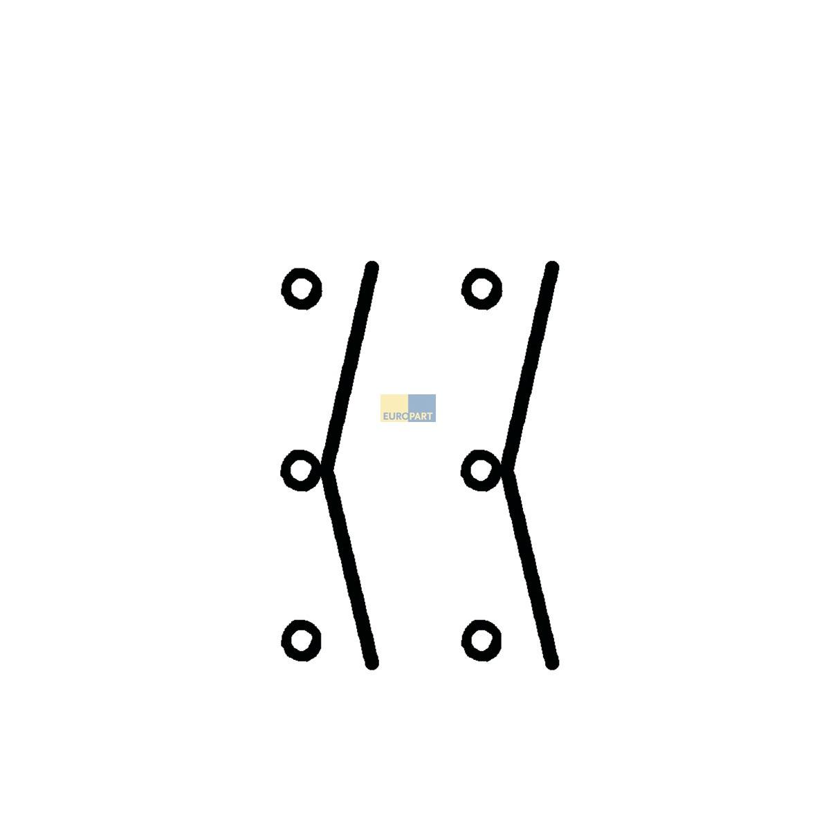 Umschalter 2-polig, Universal! - ABEA Hausgeräte Ersatzteile Shop
