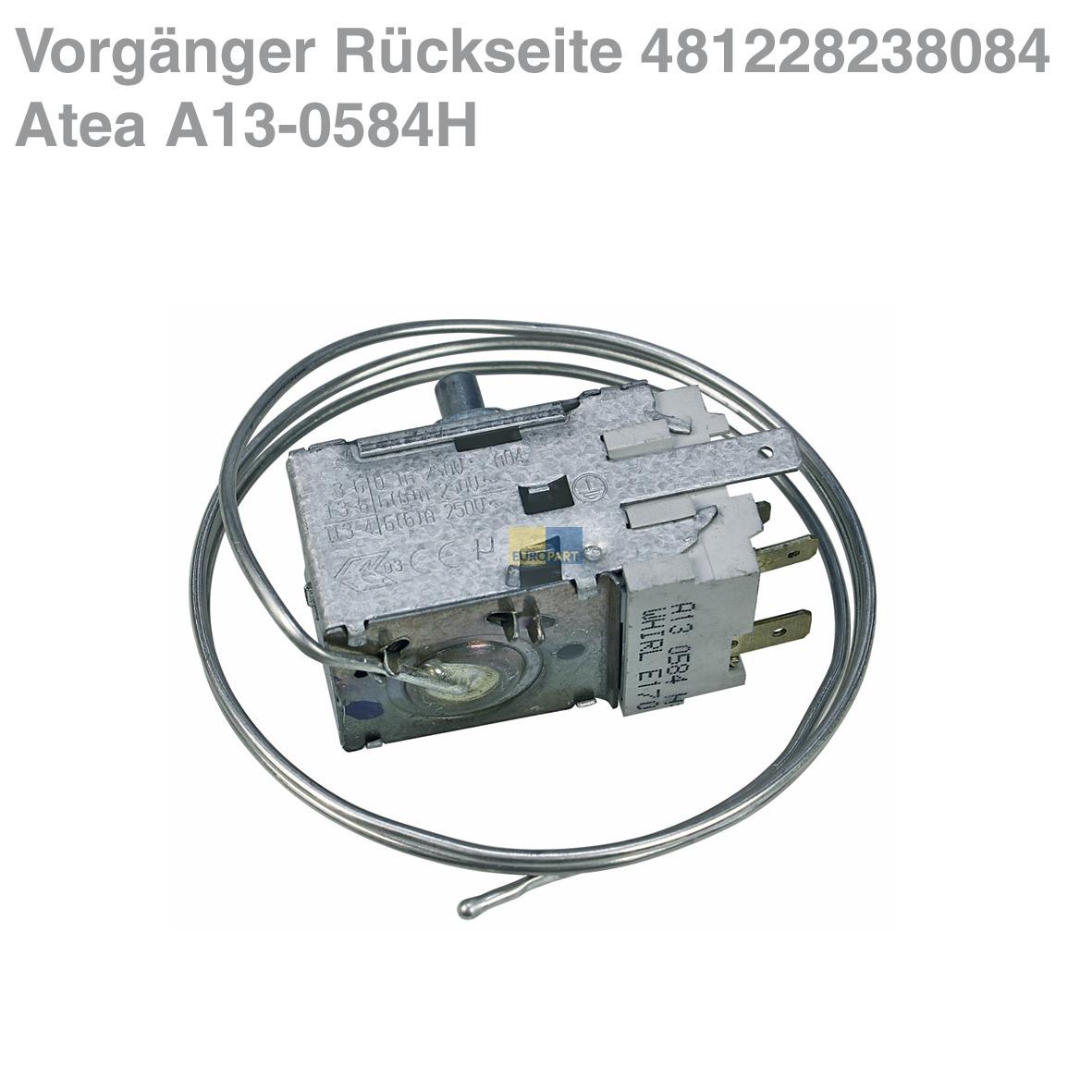 Thermostat K59 S1890 500 Ranco 915mm Kapillarrohr Abea Hausgerte Wiring Diagram 3x63mm Amp Ot