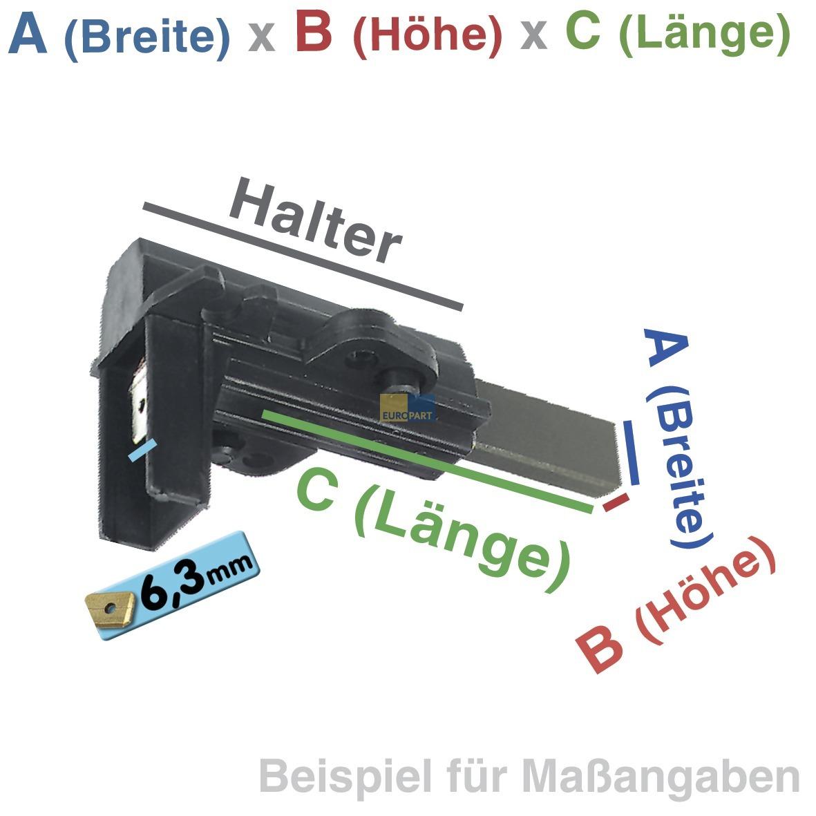 Bauknecht WT 890 WS,891 C,Privileg 5425 Kohlebürsten f