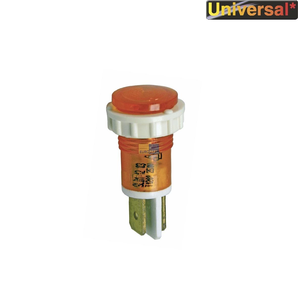Kontrolllampe gelb rund 14mm Ø 1-polig 230 V - ABEA Hausgeräte ...