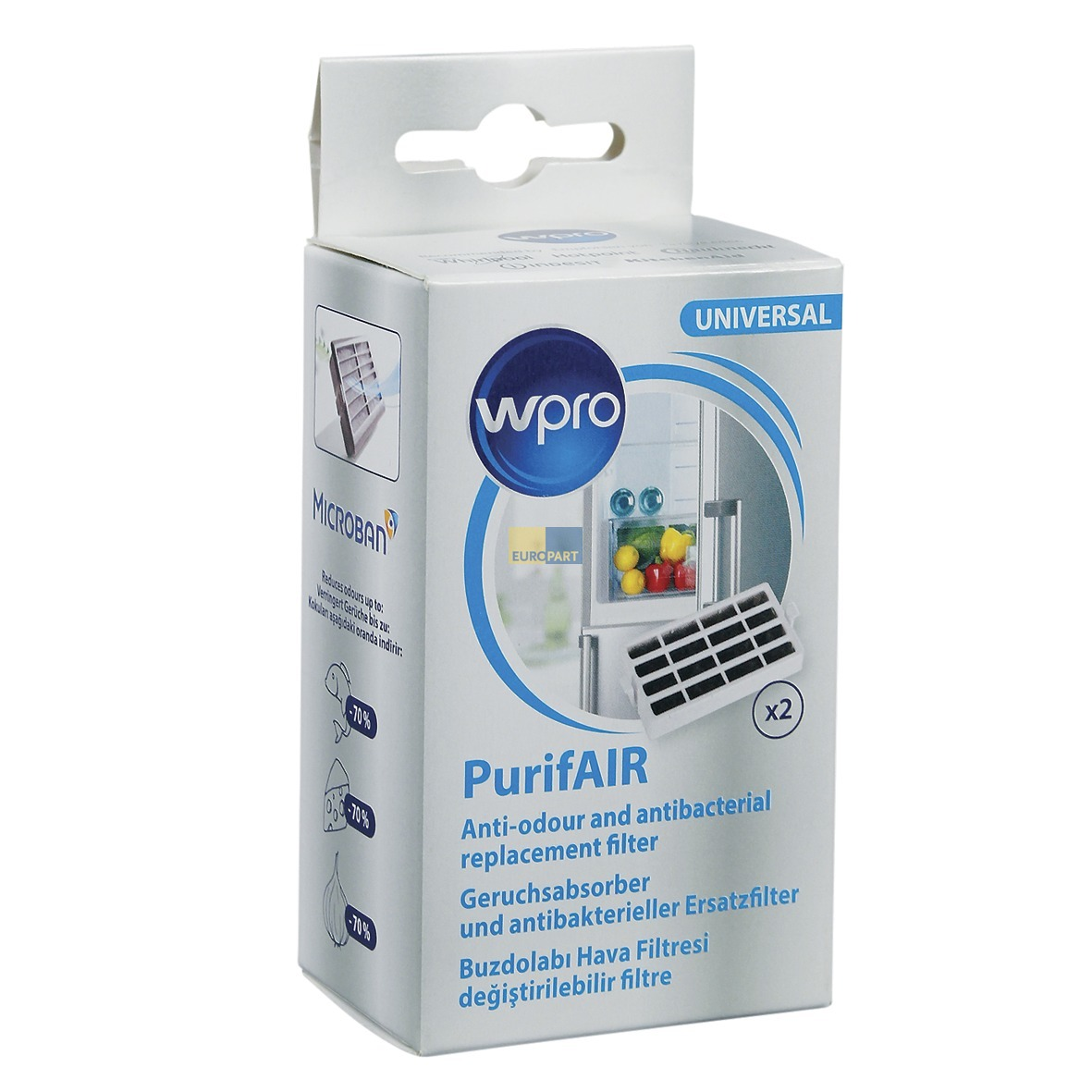 Kühlschrank-Geruchsentferner Wpro PurifAIR Univers - ABEA Hausgeräte ...