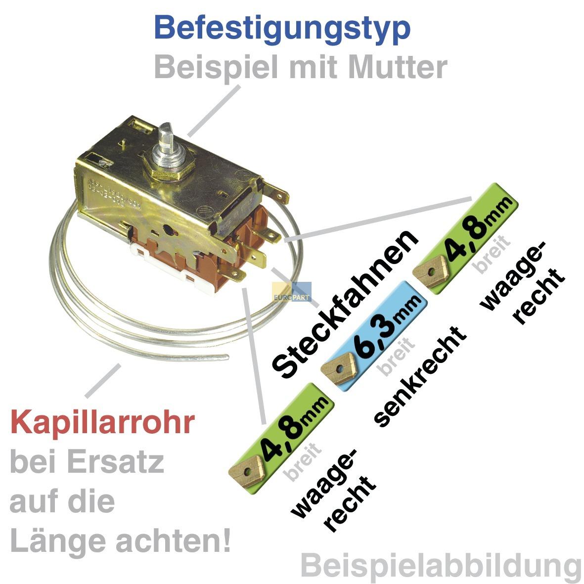 Thermostat 077B7006 Danfoss Nr.6 2300mm Kapillarrohr 3x6,3mm AMP Danfoss Service